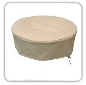 Standard Stock Tan Fire Pit Cover