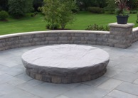 small round fire pit photo