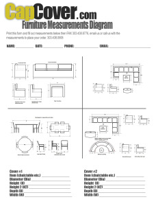 Furniture Measurement Diagram