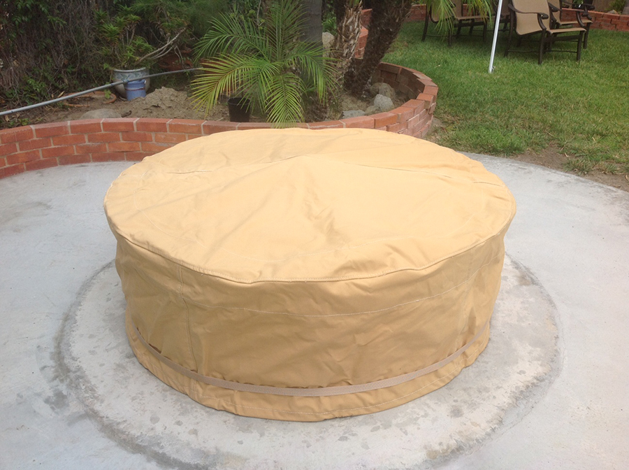 Superior Marine Canvas Round Fire Pit Cover